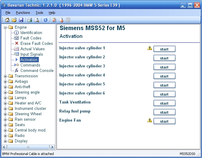 Bavarian Technic for BMW and MINI component activation screenshot